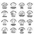 set meat products labels design element vector image vector image