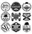 set of Barber Labels for shops etc vector image vector image