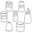 set of condiment bottle vector image
