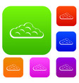 sky cloud set color collection vector image vector image