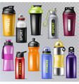 sport bottle sportive water bottled drink vector image vector image