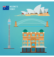 Sydney Architecture Tourism Australia Opera House vector image vector image