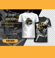 t-shirt template fully editable with yellow atv vector image vector image