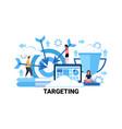 target business goal targeting concept flat vector image