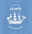tee print marine ship or sea transport t-shirt vector image vector image