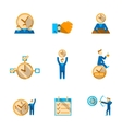 Time management icons set vector image vector image