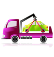 tow truck with a car vector image vector image