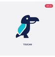 two color toucan icon from brazilia concept vector image vector image