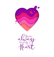 valentines day greeting banner paper cut realistic vector image