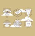 vintage geometric emblems vector image vector image
