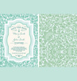 vintage save the date layout vector image vector image
