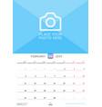 wall calendar for february 2019 design print vector image vector image