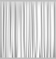 white silk curtain vector image