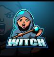 witch mascot esport logo design vector image vector image