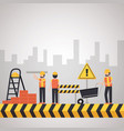worker construction equipment vector image