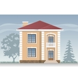 Residential house in beige vector image
