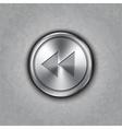 round metal backward rewind knob vector image