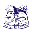frozen fish vector image