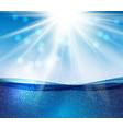 abstract blue underwater ocean wave background vector image vector image