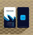 abstract business card template vector image