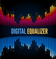 Abstract music equalizer vector image vector image