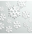 Abstract paper snowflake background vector image vector image