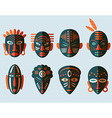 African Mask Icons vector image