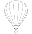 Air balloon outline drawing vector image vector image