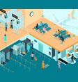 airport indoor isometric vector image