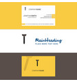 beautiful screw logo and business card vertical vector image vector image
