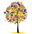 beauty summer tree abstract vector image vector image