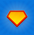 blank superhero logo icon on blue background vector image vector image