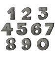 block letter design for numbers vector image vector image