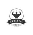 bodybuilding center logo male muscled vector image