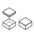 box outline vector image vector image