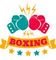 boxing retro grunge 2016 vector image vector image