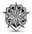 Branded gray geometric symbol stylized silver star vector image vector image
