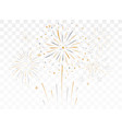 bursting fireworks with stars and sparks isolated vector image vector image
