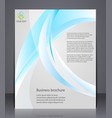 business brochure layout template with abstract vector image vector image