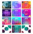 calendar 2019 template with colorful circle vector image