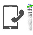 call smartphone icon with set vector image vector image