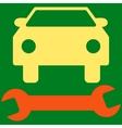 Car Repair Flat Symbol vector image