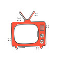 cartoon tv icon in comic style television sign vector image vector image