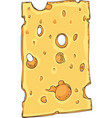 cheese with holes slice vector image