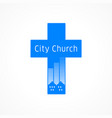 city cross vector image vector image