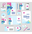 Corporate style business templates Set of modern vector image vector image