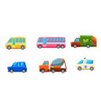 cute city transport set different kind of vector image vector image