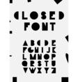 Decorative latin alphabet vector image vector image