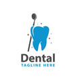dental health modern logo vector image vector image