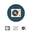 disk jockey turntable icon vector image